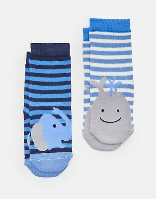 Joules Baby 204087 Character Socks in ELEPHANT AND WHALE