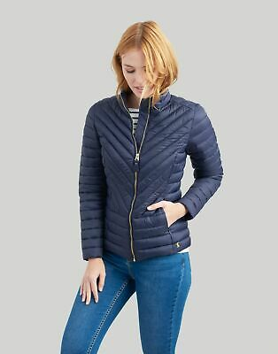 Joules Womens Elodie Quilted Jacket in MARINE NAVY