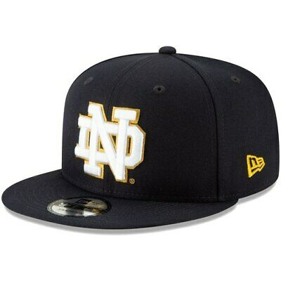 f1be451c296 New Era Notre Dame Fighting Irish Navy Tag Turn 9FIFTY Adjustable Snapback  Hat