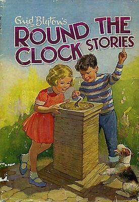 Round the Clock and Other Stories  by Enid Blyton Used Vintage Illustrated HB 63