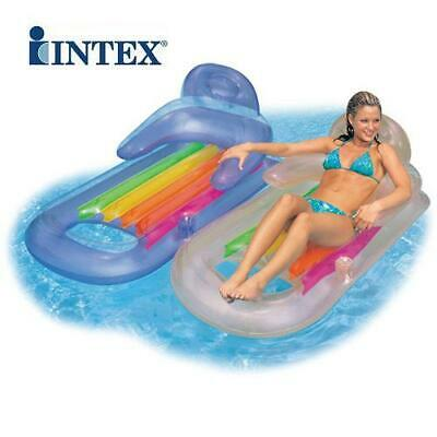 Intex Deluxe Inflatable Sun Lounger Swimming Pool Air-Bed Seat/Chair Lilo