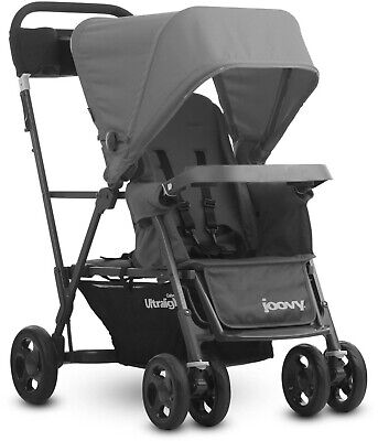 Ultralight Standing Stroller, Gray Portable Sleek Padded Soft Comfy Home Outdoor