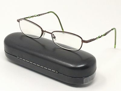 e0d7e08710a Nine West Rx Eyeglasses TC9 340 Brown Green Full Rim Rectangular 51  18-