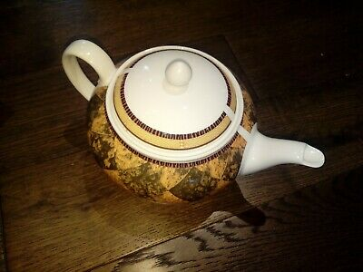 MINT Vintage Tea Pot China Made In England  Decoration Large Mosaic Stone Decor