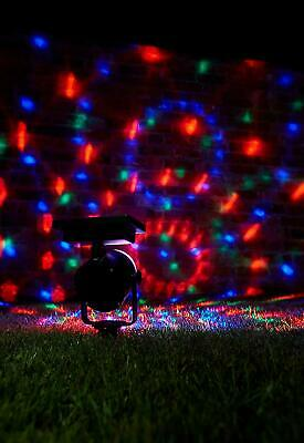 NEW Solar LED Carnival Moving Colour Changing Spotlight Garden Party Stake Light