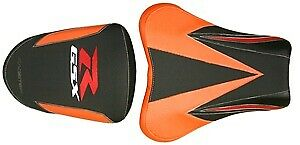 Bagster Seat Cover Orange/Black/Carbon/Red Letters Suzuki GSX-R1000 2007-2008