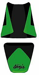 Bagster Seat Cover Green/Black/Black Letters Kawasaki ZX6-R / ZX6-RR 2005-2006
