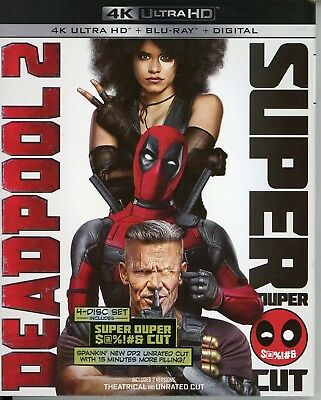 Deadpool 2 - 4k / Blu-ray/ Super Duper Cut 4 discs w/ slipcover no digital code