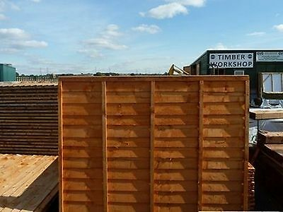 """wooden Lap fence panels 6ft x 4ft heavy duty """"Special Offer £13.95"""""""