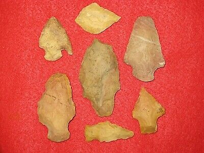 Authentic Native American artifact arrowhead 7) Arkansas points BN121