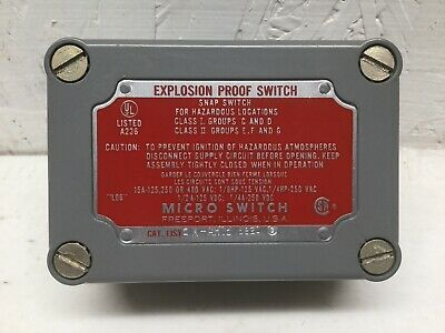 Honeywell Micro Switch EX-AR16 8820 Explosion Proof Snap Switch