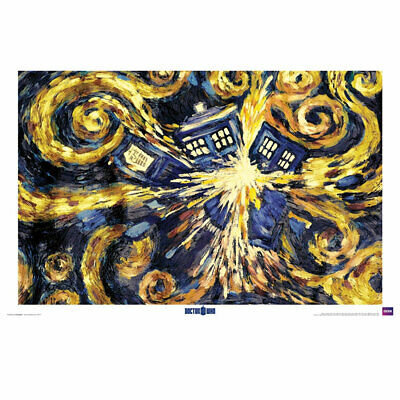 Dr Who - Exploding Tardis Van Gogh Poster - Loot - BRAND NEW