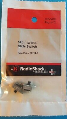 NEW RadioShack SPDT Submini Slide Switches 2 pk. 2750409 *FREE SHIPPING*