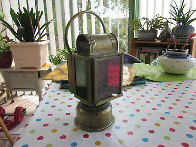 Lampe Phare Carbure Acetylene Voiture Ancienne Vintage Type Sncf
