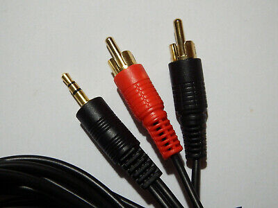 5m 3.5mm Jack Plug Male to 2 x RCA Male Audio Cable Lead For PC/Aux/iPod etc.