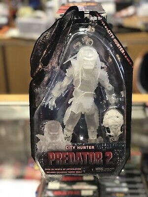 """NECA Reel Toys SDCC 2012 7"""" PREDATOR 2 Cloaked City Hunter MOC Sealed Clear"""