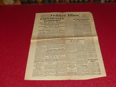 """[PRESS WW2 39-45] """"FRANCE FREE """" # 389 / 6-7 MAY 1945 Capitulation Germany"""