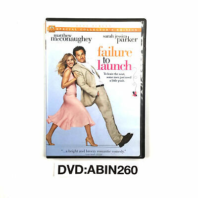Failure to Launch DVD Full Screen By Matthew Mcconaughey, Sarah Jessica Parker