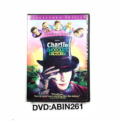 Charlie And The Chocolate Factory Comedy Movie DVD Johnny Depp, Freddie Highmore