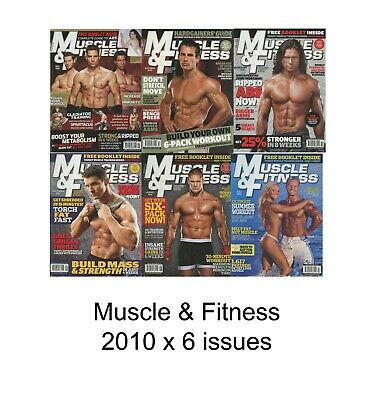 Job Lot of 6 x Muscle & Fitness Bodybuilding Magazines from 2010