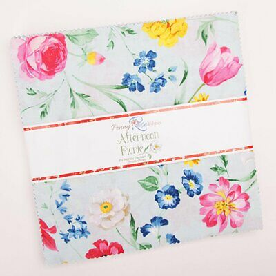Quilting Fabric Layer Cake -Afternoon Picnic - Penny Rose Save $$$$$
