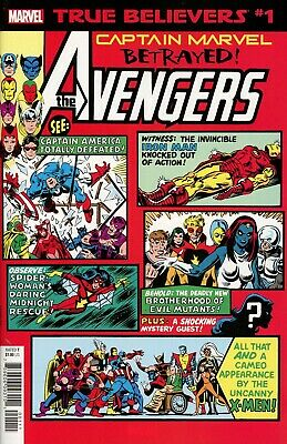 TRUE BELIEVERS Captain Marvel Betrayed #1 NM – Rpt Avengers Annual 10 1ST ROGUE