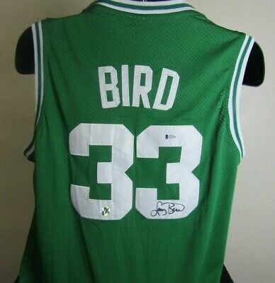 7ca4604001f Larry Bird Autographed Signed Boston Celtics Jersey Bird Hologram Beckett  Coa