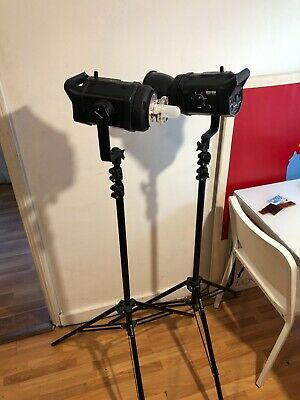 BOWENS GEMINI 400RX 2 400W/s KIT in PERFECT condition, stands/umbrellas/etc  incl