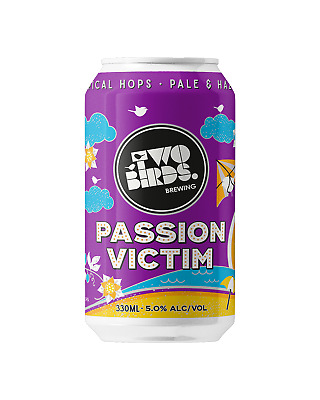 Two Birds Passion Victim Summer Ale Cans 375mL Beer 330mL case of 24