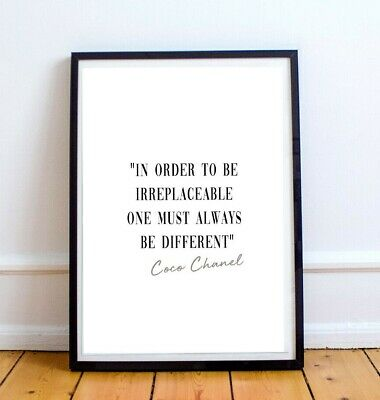 Coco Chanel Quote Print -A4 or A5 - Inspirational Quote