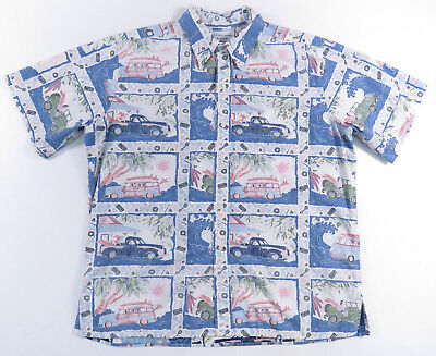 0cb8c651 Detrich Varez Collection Reyn Spooner Hawaiian Camp Reverse Print Shirt  Mens Xl