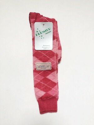 vintage NOS premier hosiery knee high socks argyle womens size 8-9.5 75% orlon