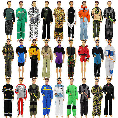 10 Set Random Outfits Suit Jacket Trousers Uniform Clothes For 12 in. Ken Doll
