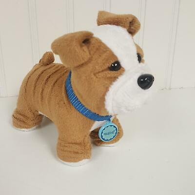 American Girl Pet Dog Meatloaf with collar  Bulldog (A10-25)