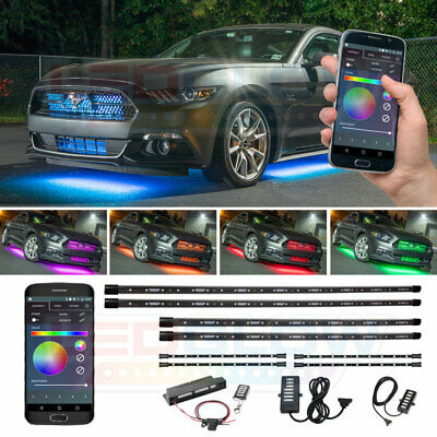 LEDGlow 8pc Million Color LED Underbody Lighting Kit with Bluetooth Connectivity