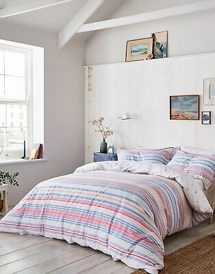 Joules Summer Fruit Stripe Duvet Cover in STRIPE MULTI