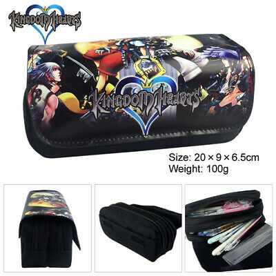 Game Kingdom Hearts keyblade Pencil Case Pen Stationery Make Up Pouch