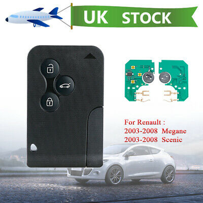 For Renault Megane Scenic 2003-2008 3 Button Remote Key Fob PCF7947 Chip 433Mhz