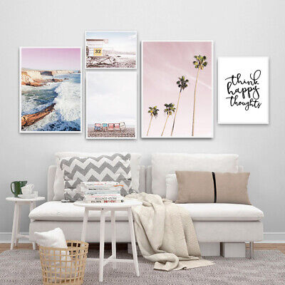 Lifeguard Coastal Beach Wall Art Canvas Poster Landscape Print Home Decoration
