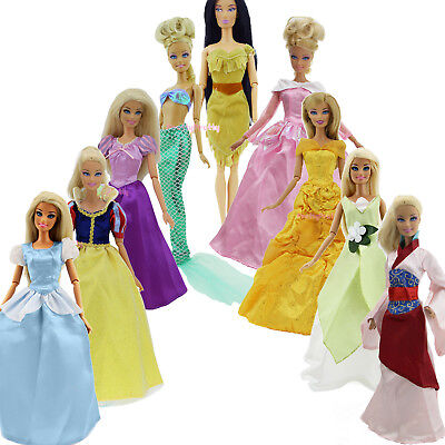 Lot 3x Princess Outfits Dress Wedding Ball Gown Clothes for 12 in. Doll Toy Gift