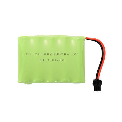AA NI-MH 6.0V 2400mAh Replacement Battery + USB Charger Cable for Toys BC750