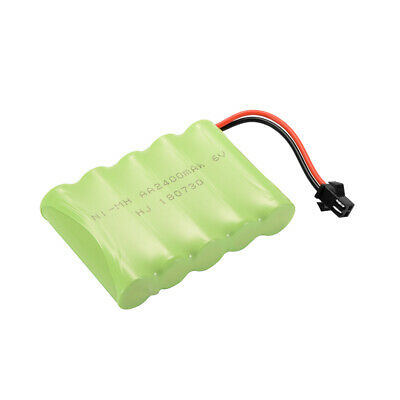 AA NI-MH 6.0V 2400mAh Battery Rechargeable +USB Charger Cable for Car Toys BC750
