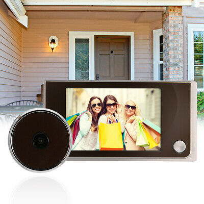 """Digital Door Viewer 3.5"""" LED Peephole Video Home Monitor Security Camera TH191"""