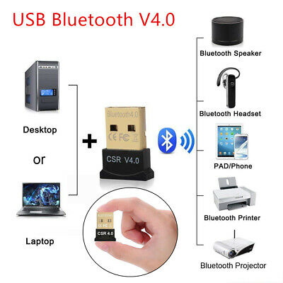 USB Bluetooth V4.0 CSR Wireless Dongle Adapter For Windows 7/8/10 PC Laptop Pad