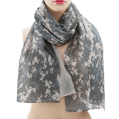 Hiking Scarf Camouflage scarves Outdoor Military Tactical Mesh Scarf B