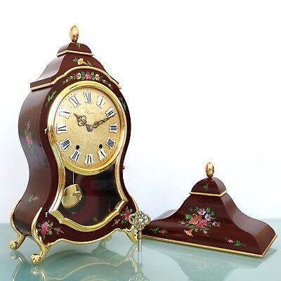 Swiss ELUXA Vintage Wall Mantel Clock + Console Neuchatel VERY RARE! XXL Chime!