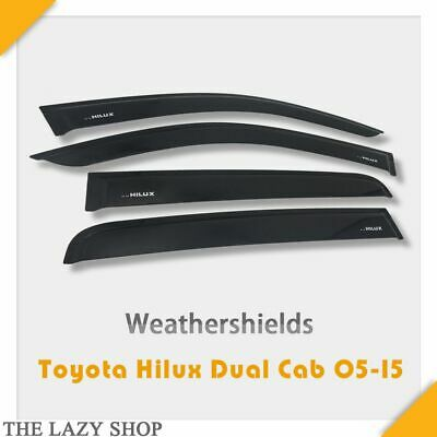 Weathershields, Weather shields Sun Visors #L USE FOR HILUX Vigo Dual Cab 05-15