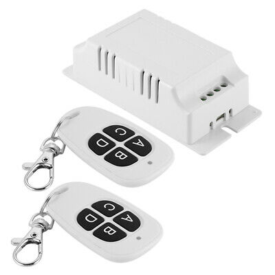 220V 433MHz 4CH Wireless Remote Control Switch 2 Transmitters + Receiver LD1605
