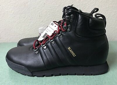 dbeb2492fb3 ADIDAS ORIGINALS JAKE Blauvelt G56462 Black Leather Boots Mens Sz 10 ...