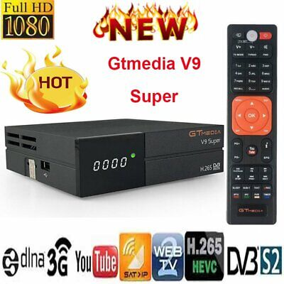 Gtmedia V9 Super Full H.265 DVB-S2 TV Satellite Receiver Receptor Buit-in WIFI~~
